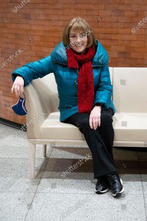 Carmen Maura durante the premiere of the film Le Bonheaur est Dans Le Pre in Madrid
