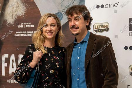Actors Javier Veiga and Marta Hazas  at photocall for premiere Fariña in Teatro Cofidis Alcazar