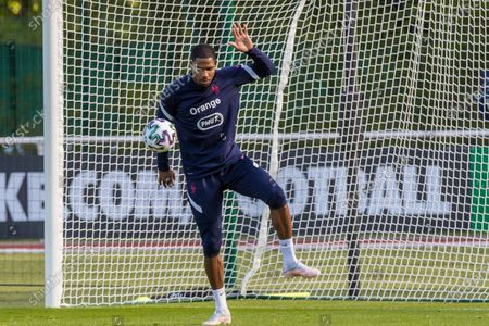 French national soccer team goalkeeper Mike Maignan attends his team's training session in Clairefontaine-en-Yvelines, outside Paris, France, 27 May 2021. The French team is preparing for the upcoming UEFA EURO 2020 soccer championship.