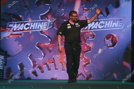 James Wade during the PDC Unibet Premier League darts at Marshall Arena, Milton Keynes