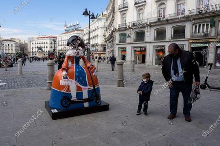 Editorial picture of Meninas Urban Art, Madrid, Spain - 02 Nov 2020