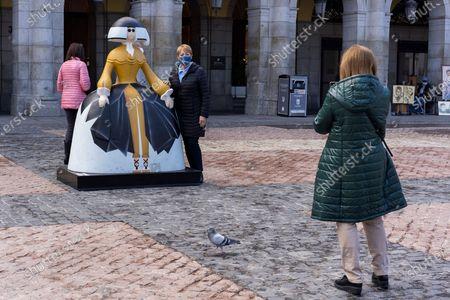Editorial image of Meninas Urban Art, Madrid, Spain - 02 Nov 2020