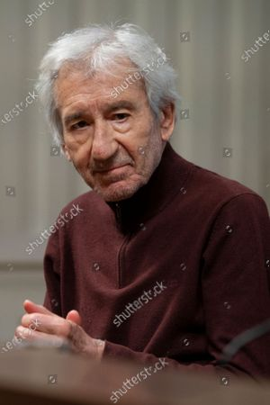 the actor Jose Sacristan during a conference on the writer Miguel Delibes at the National Library of Madrid, Spain, on November 10, 2020.
