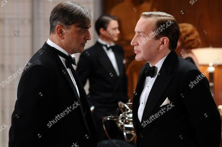 Art Malik as Sir Bartholomew Strange and Ronan Vibert as Captain Dacres