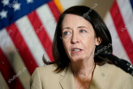 Sen. Maria Cantwell, D-Wash., speaks on Capitol Hill in Washington. The Senate is set to approve a big innovation bill aimed at making the U.S. more competitive with China and other countries