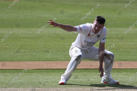 Stock Photo of Durham's Michael Potts appeals for an LBW   during the LV= County Championship match between Durham County Cricket Club and Essex at Emirates Riverside, Chester le Street on Thursday 27th May 2021.
