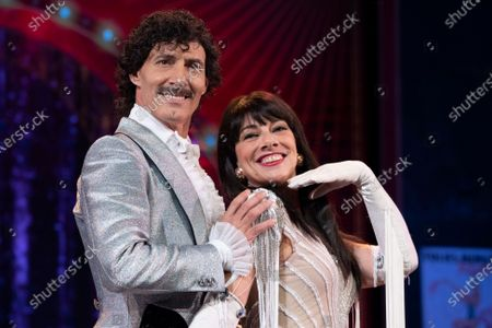 Actors Manuel Bandera and Marisol Mur during presentation play La Ultima Tourne (Last Tourne) in the Calderon Theater in Madrid, Spain, on October, 21,2020.