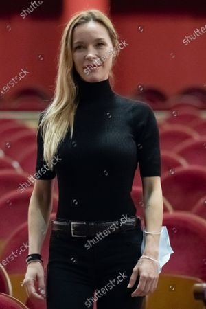 Stock Picture of The actress Maria Esteve poses during the portrait session at the Teatro Real in Madrid, Spain, on October 16, 2020.