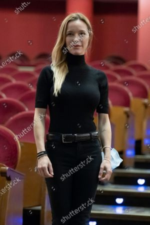Stock Image of The actress Maria Esteve poses during the portrait session at the Teatro Real in Madrid, Spain, on October 16, 2020.