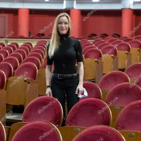 The actress Maria Esteve poses during the portrait session at the Teatro Real in Madrid, Spain, on October 16, 2020.