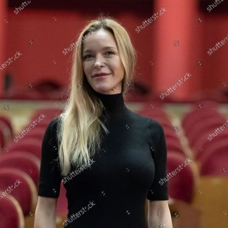 Stock Photo of The actress Maria Esteve poses during the portrait session at the Teatro Real in Madrid, Spain, on October 16, 2020.
