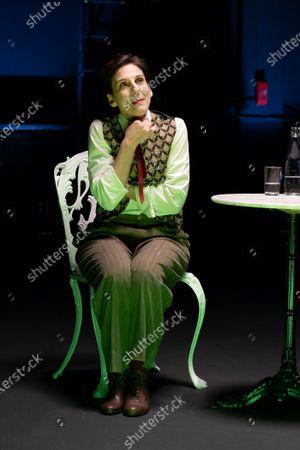 Stock Photo of Malena Alterio performs a fragment of 'Los que hablan' theatre play at Teatro de La Abadia on October 21, 2020 in Madrid, Spain.