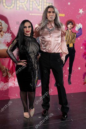 "Olvido Gara, Mario Vaquerizo attends to 'La Ultima Tourne"" premiere at Teatro Calderon on October 29, 2020 in Madrid, Spain"