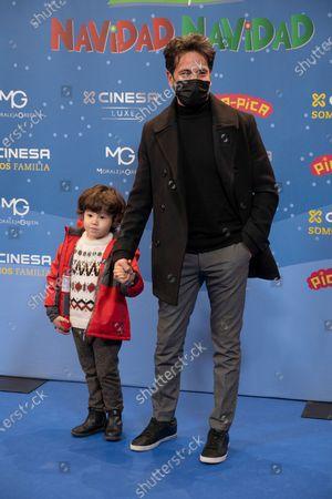David de Maria attends the photocall of the premiere of Pica Pica Navidad Navidad Musical in Cinesa La Moraleja Madrid, Spain, on December 19, 2020.