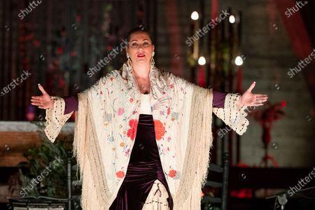 the flamenco singer Marina Heredia during the La Navidad de Marina Heredia performance in Madrid, Spain, December 30 2020.