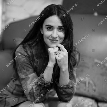 The actress Macarena Garcia poses during the portrait session during the presentation of the movie El arte de volver in Madrid, Spain, on December 2, 2020.