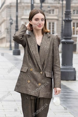 Spanish actress Maria Valverde during the presentation project 'Symphony' at Madrid Royal Opera House, Spain, 21 December 2020. The project is an immersive experience to take classic music closer to all audiences allowing the spectator is one other musician inside the orchestra.