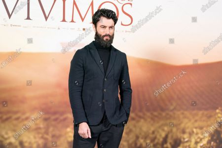Stock Picture of Actor Javier Rey attends `El Verano Que Vivimos' photocallon at the Four Seasons Hotel on December 03, 2020 in Madrid, Spain.