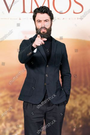 Stock Photo of Actor Javier Rey attends `El Verano Que Vivimos' photocallon at the Four Seasons Hotel on December 03, 2020 in Madrid, Spain.