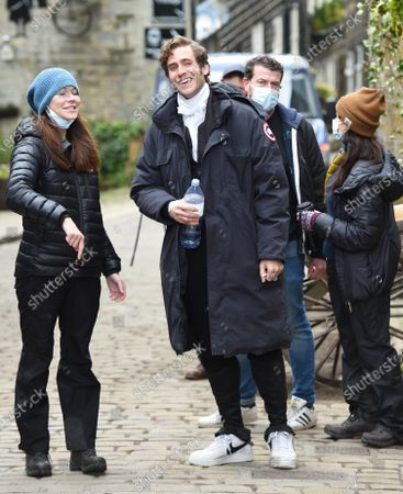Stock Photo of The film Emily, the story of Emily Bronte starts shooting in Haworth, Yorkshire. Oliver Jackson-Cohen co stars