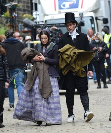 Editorial image of 'Emily' on set filming, Haworth, Yorkshire, UK - 25 May 2021