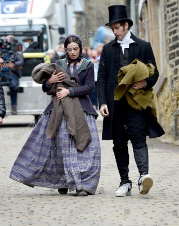 Editorial picture of 'Emily' on set filming, Haworth, Yorkshire, UK - 25 May 2021