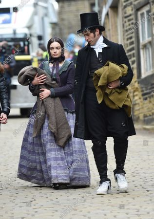 Editorial photo of 'Emily' on set filming, Haworth, Yorkshire, UK - 25 May 2021