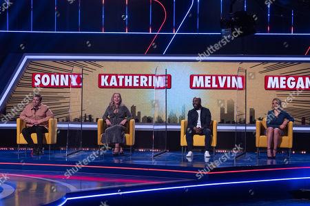 Stock Photo of Sonny Jay, Katherine Ryan, Melvin O'Doom and Megan Barton Hanson.