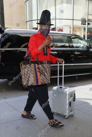 Billy Porter arrives at The Tonight Show Starring Jimmy Fallon in New York City on May 26, 2021.