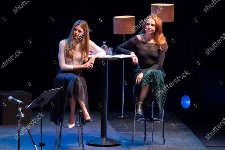 Cristina Castano and Manuela Velasco during his performance on ESCENAS DEL JAZZ at the Madrid International Jazz Festival, Spain, on November 18 2020