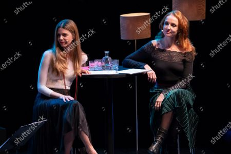 Stock Picture of Cristina Castano and Manuela Velasco during his performance on ESCENAS DEL JAZZ at the Madrid International Jazz Festival, Spain, on November 18 2020