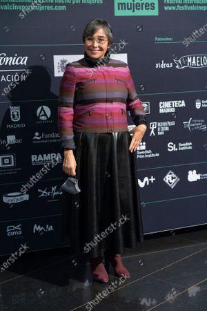 Maria Isabel Diaz attends 'Cine Por Mujeres' Festival Inauguration at Palacio de la Prensa cinema on November 04, 2020 in Madrid, Spain.