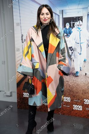 """Maria Escote attends premiere """"2020"""" documentary film of Hernán Zin, premiere at Wizink Center on November 26, 2020 in Madrid, Spain."""