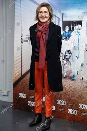 """Maria Pujalte attends premiere """"2020"""" documentary film of Hernán Zin, premiere at Wizink Center on November 26, 2020 in Madrid, Spain."""