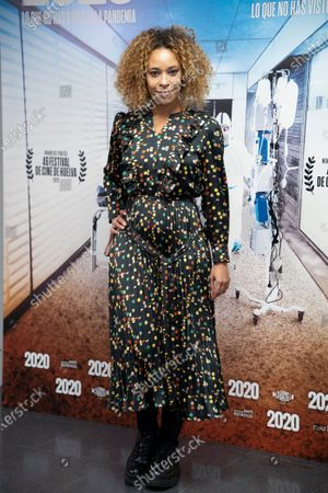 """Stock Picture of Mary Ruiz attends premiere """"2020"""" documentary film of Hernán Zin, premiere at Wizink Center on November 26, 2020 in Madrid, Spain."""