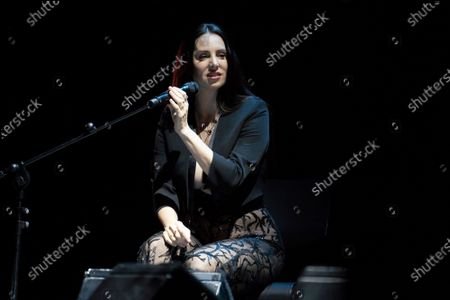 Spanish singer Mala Rodriguez performs on stage at Madrid Brillante Festival at Teatro La Latina on January 03, 2020 in Madrid, Spain.