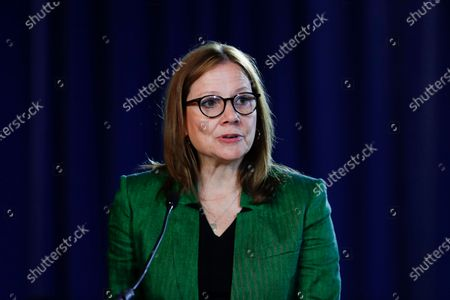 General Motors CEO Mary Barra speaks during the opening of their contract talks with the United Auto Workers in Detroit. Most of the women running the biggest U.S. companies saw their pay increase last year, 2020, even as the pandemic hammered the economy and many of their businesses