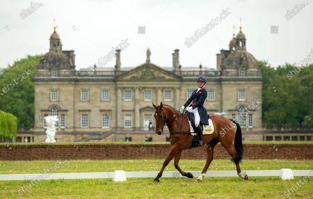 Stock Picture of Nicola Wilson on Coolparks Sarco Top Notch in the dressage.