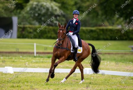 Stock Photo of Nicola Wilson on Coolparks Sarco Top Notch in the dressage.