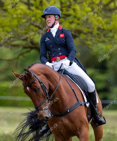 Stock Image of Nicola Wilson on Coolparks Sarco Top Notch in the dressage.
