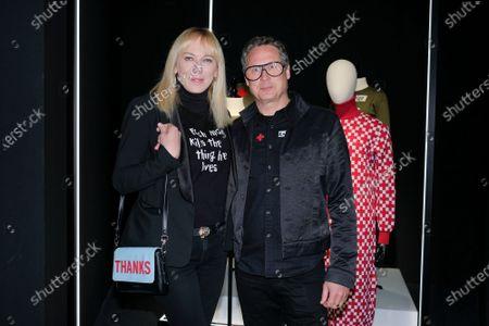 Topacio Fresh attends David Delfin exhibition inauguration, in Madrid, Spain, on February 19, 2020.