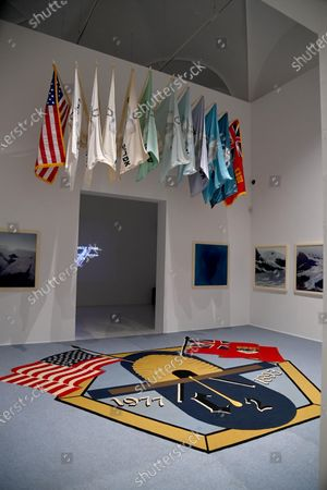 The artwork 'Selection from Cremaster 2: The Drones' Exposition' by Matthew Barney is on display in the exhibition 'American Art 1961-2001. The Walker Arts Center Collections. From Andy Warhol to Kara Walker' at Palazzo Strozzi in Florence, Italy, 28 May 2021. The exhibition runs until 29 August.