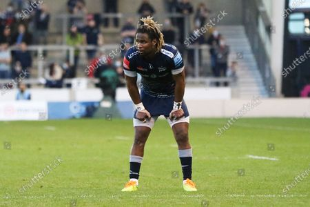 Sale Sharks Marland Yarde during the Gallagher Premiership Rugby match between Sale Sharks and Bristol Rugby at the AJ Bell Stadium, Eccles