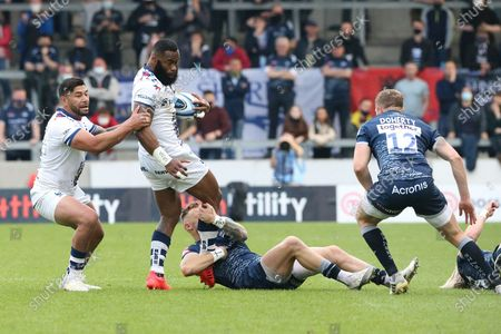 Bristol Bears Nathan Hughes during the Gallagher Premiership Rugby match between Sale Sharks and Bristol Rugby at the AJ Bell Stadium, Eccles