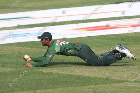 Stock Photo of Bangladesh player Mahmudullah Riyad seen in action during the third and final one-day international (ODI) cricket match between Bangladesh and Sri Lanka at Sher-e-Bangla National Cricket Stadium in Dhaka.Final score; Bangladesh 2:1 Sri Lanka)