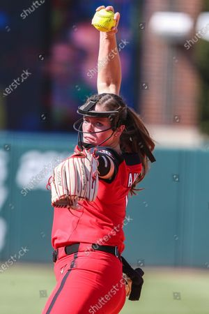 Stock Image of Georgia starting pitcher Mary Wilson Avant (5) during an NCAA softball game against Florida on in Gainesville, Fla