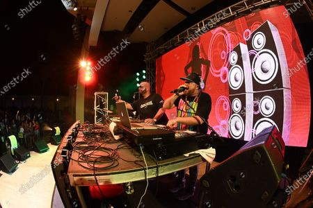 DJ Johnny Quest and DJ Laz perform