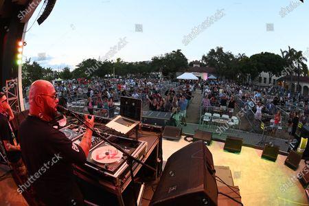DJ Laz performs