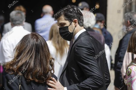 Italian dancer Roberto Bolle arrives to attend the funeral service of Carla Fracci at the San Marco church, in Milan, Italy, . Carla Fracci, an Italian cultural icon and former La Scala prima ballerina renowned for romantic roles alongside such greats as Rudolf Nureyev and Mikhail Baryshnikov, died Thursday at her home in Milan. She was 84