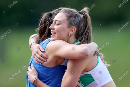 Women's 400m . Bandon AC's Phil Healy and Sophie Becker of Raheny Shamrock